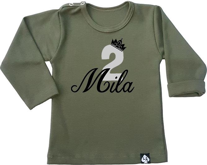 baby tshirt khaki birthday