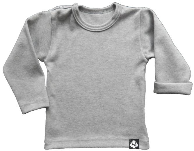 Baby tshirt grijs basic