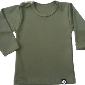 Baby tshirt groen basic