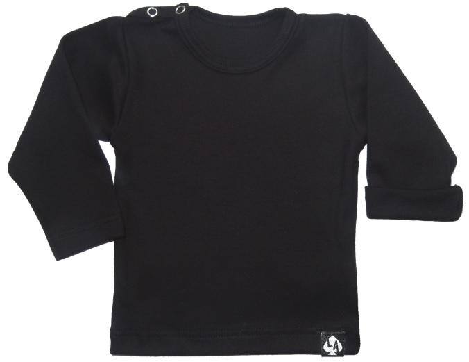 Baby tshirt zwart basic