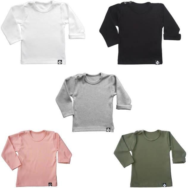 Basic Babykleding.Baby T Shirt Basic Shirt Meerdere Kleuren Basic Deal Little Ace