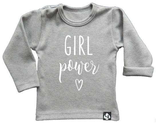 baby tshirt grijs girl power