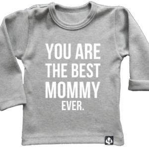 baby tshirt grijs mommy