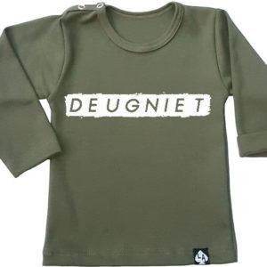 baby tshirt groen deugniet