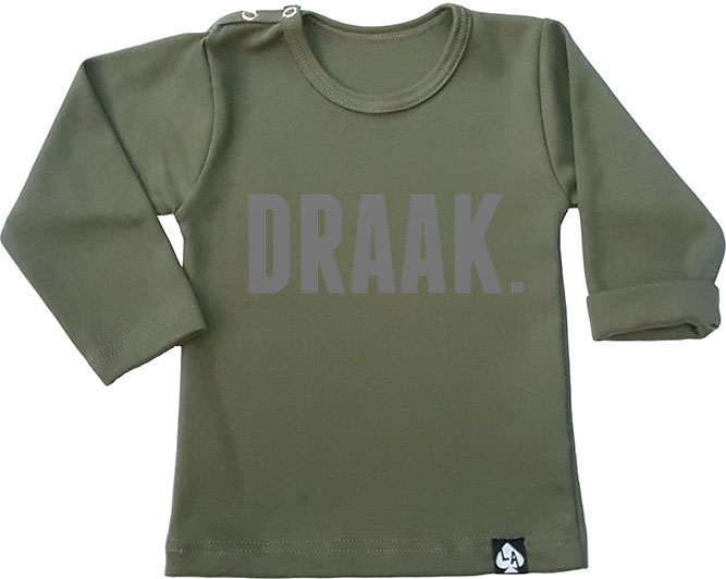 baby tshirt groen lange mouw draak