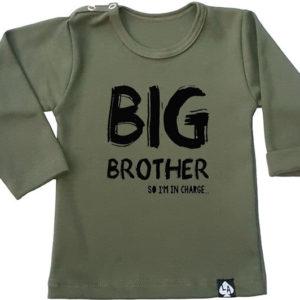 baby tshirt khaki grote broer