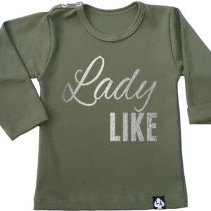 baby tshirt khaki lange mouwen ladylike
