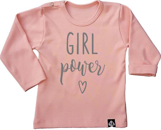 baby tshirt roze girl power