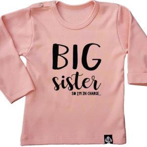 baby tshirt roze grote zus