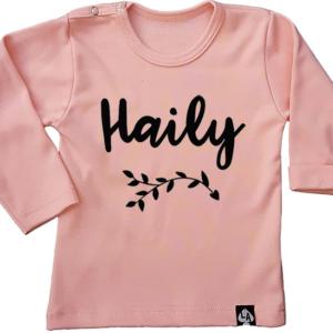 baby tshirt roze naam meisje