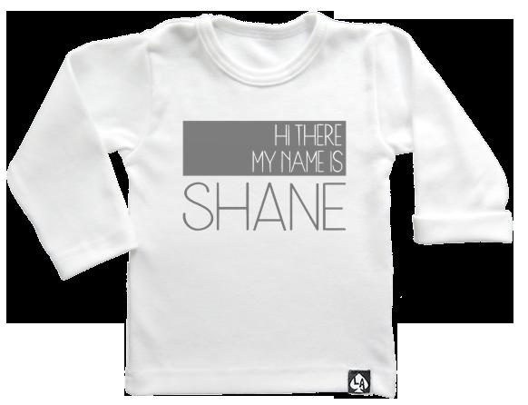 baby tshirt wit custom naam