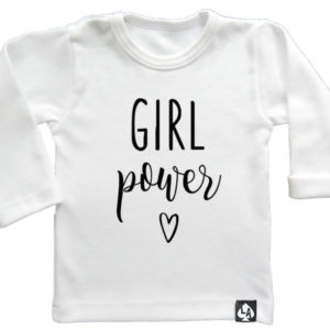 baby tshirt wit girl power