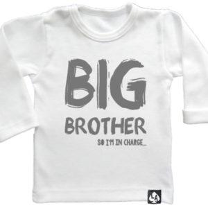baby tshirt wit grote broer