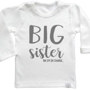 baby tshirt wit grote zus