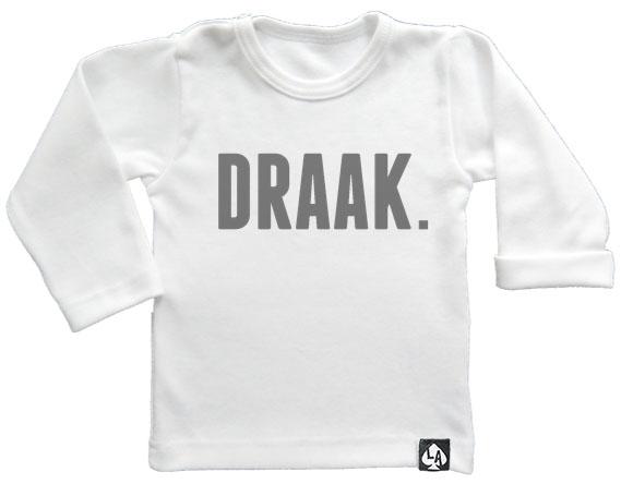 baby tshirt wit lange mouw draak
