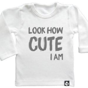 baby tshirt wit lange mouw schattig