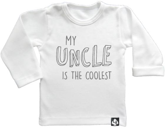 baby tshirt wit lange mouwen leukste oom
