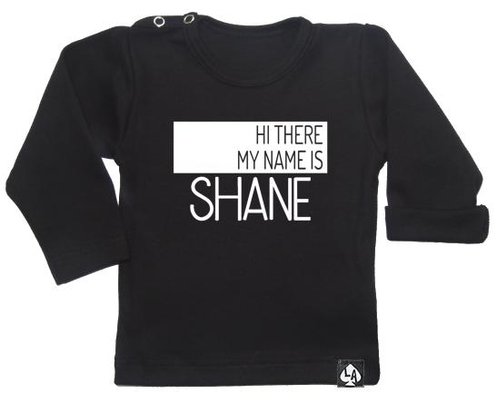 baby tshirt zwart custom naam