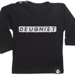 baby tshirt zwart deugniet