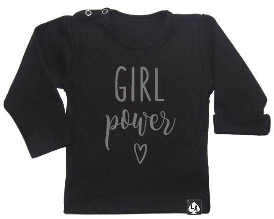 baby tshirt zwart girl power