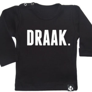 baby tshirt zwart lange mouw draak