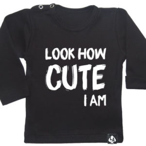 baby tshirt zwart lange mouw schattig