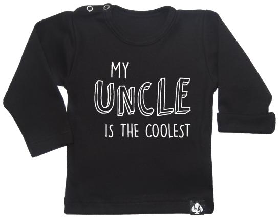 baby tshirt zwart lange mouwen leukste oom