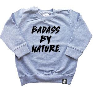 Baby sweater grijs badass