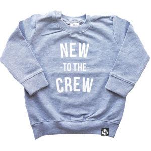 Baby sweater grijs crew