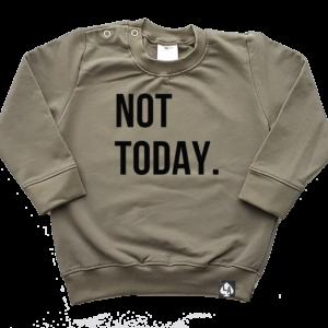 baby sweater khaki best not today