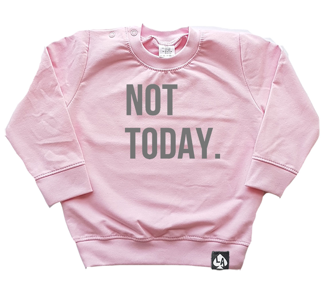 baby sweater roze not today