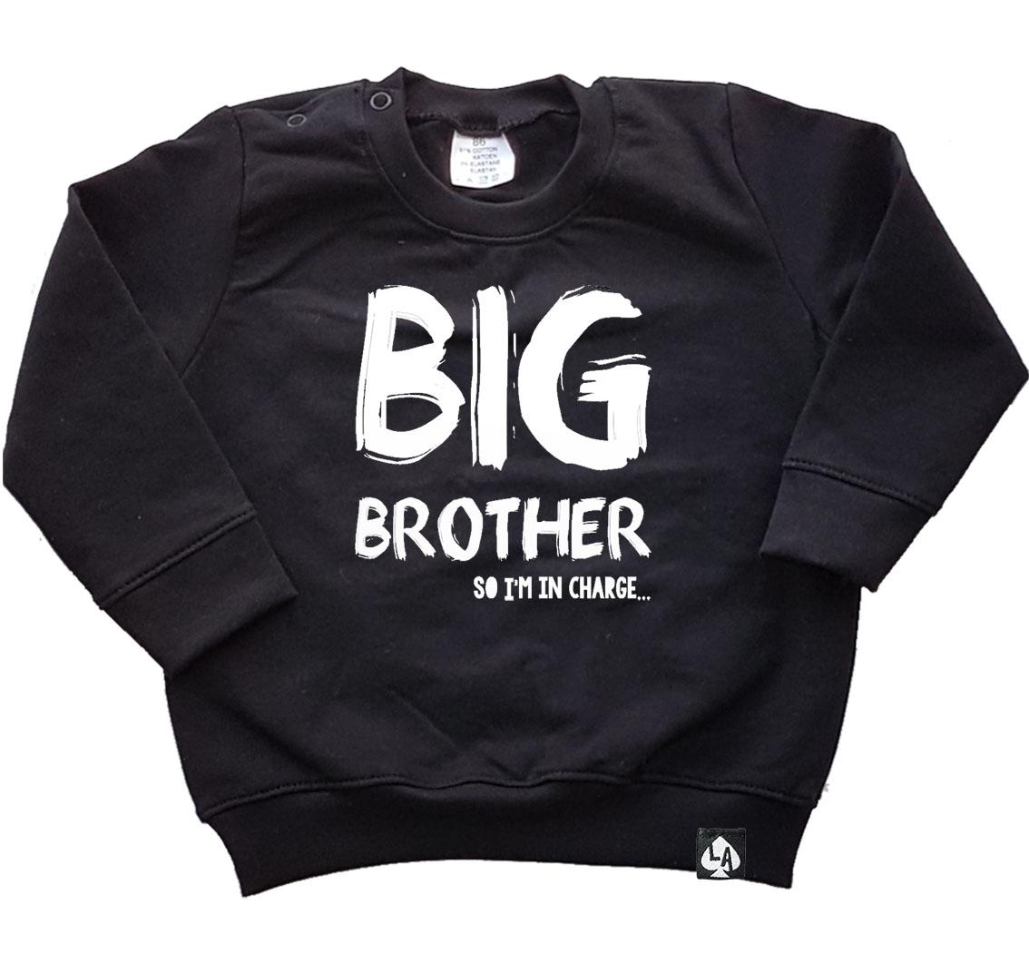 baby sweater zwart big brother