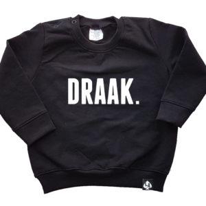 baby sweater zwart draak