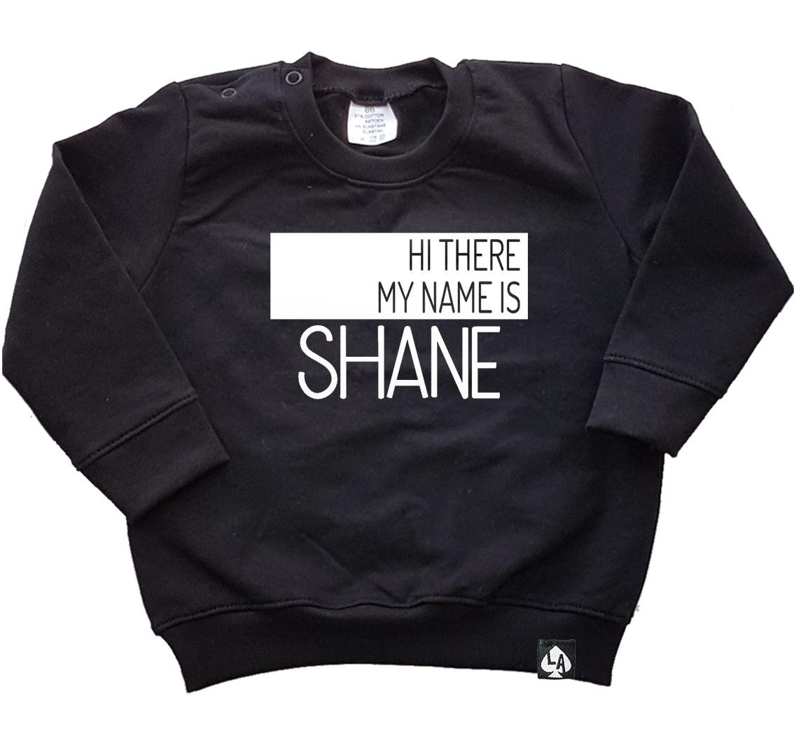 baby sweater zwart nameshirt