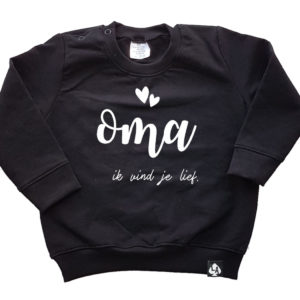 baby sweater zwart oma