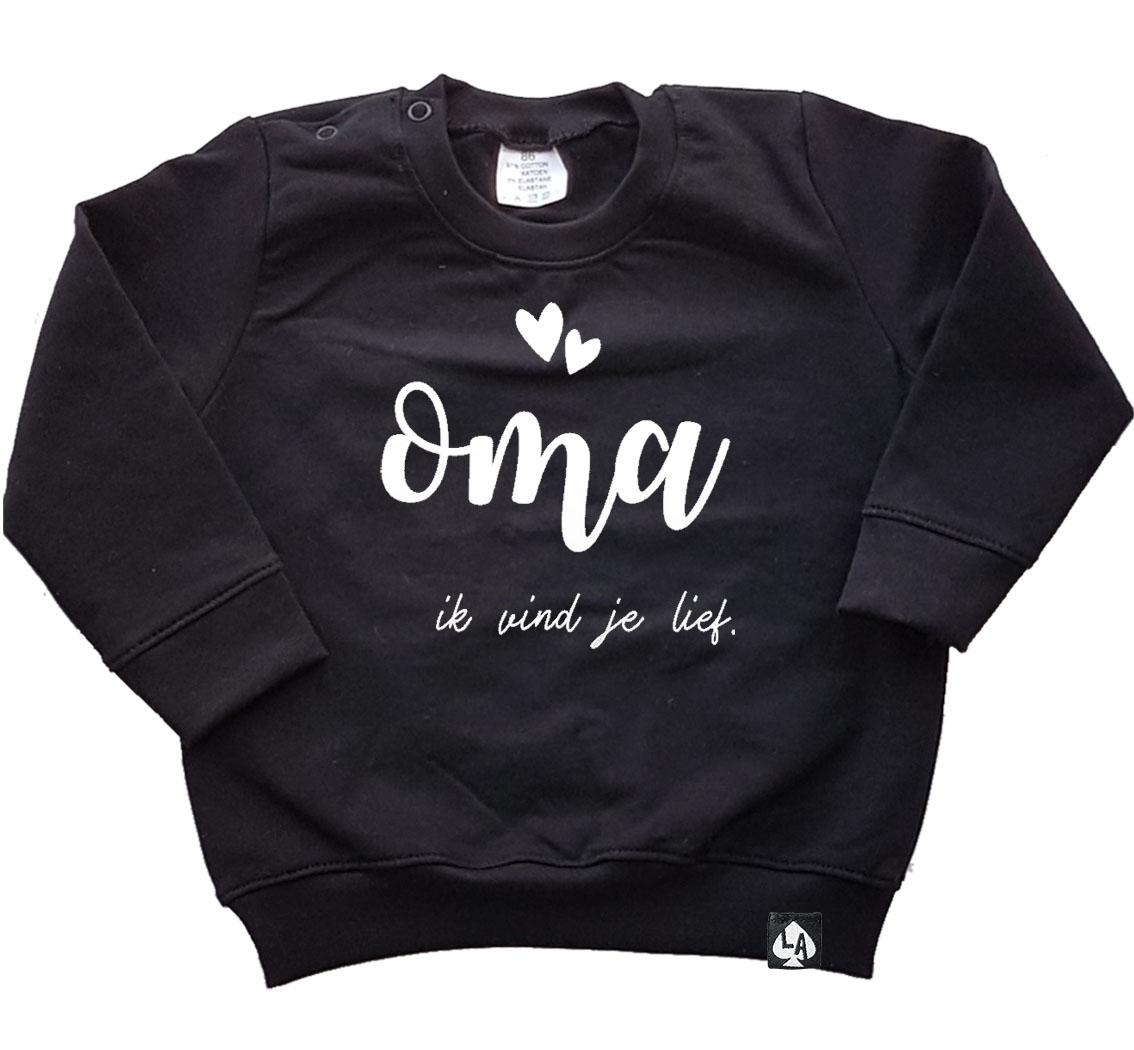 baby sweater zwart oma