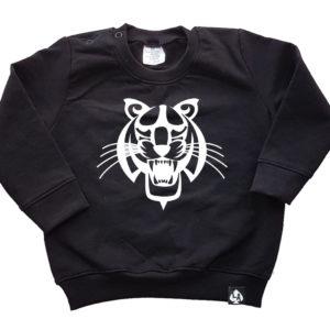baby sweater zwart tijger