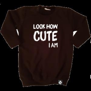 baby sweaterjurk cute zwart