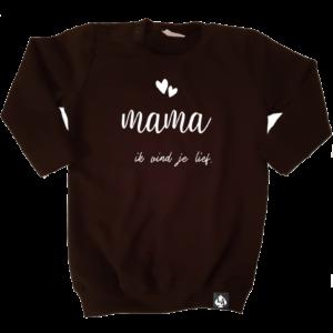 baby sweaterjurk mama zwart