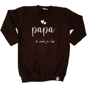 baby sweaterjurk papa zwart