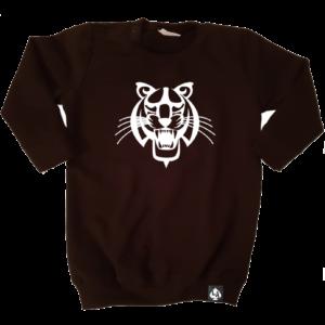 baby sweaterjurk tijger zwart