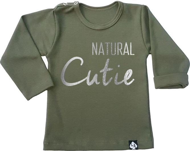 baby tshirt groen lang mouw cute