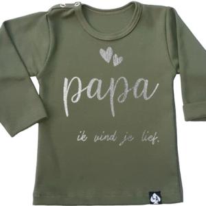 baby tshirt groen papa