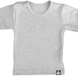baby tshirt korte mouw basic grijs