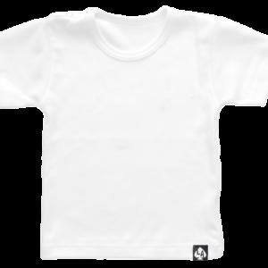 baby tshirt korte mouw basic wit
