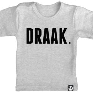 baby tshirt korte mouw grijs draak