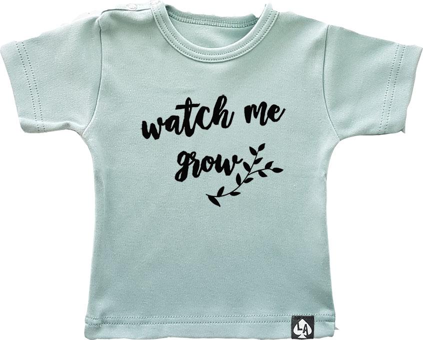 baby tshirt korte mouw mintgroen grow