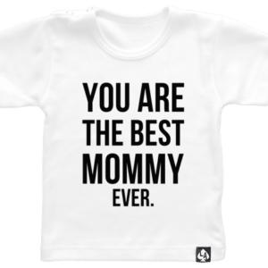 baby tshirt korte mouw mommy wit
