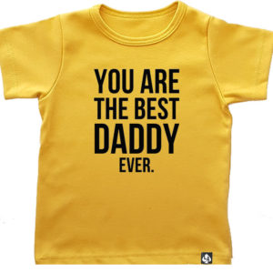 baby tshirt korte mouw okergeel best daddy