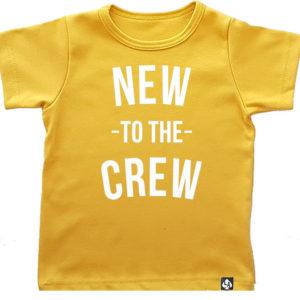 baby tshirt korte mouw okergeel crew